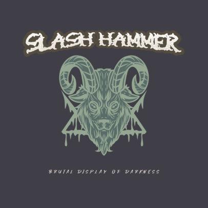 Satanic Logo Creator for a Blackened Screamo Band 3772k