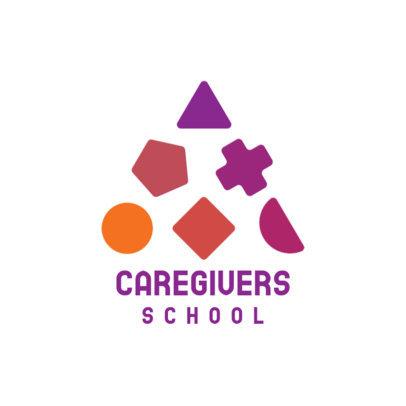Nursery School Logo Generator with Colorful Shapes 3764e