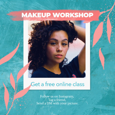 Instagram Post Template for an Online Makeup Workshop Ad 3066a
