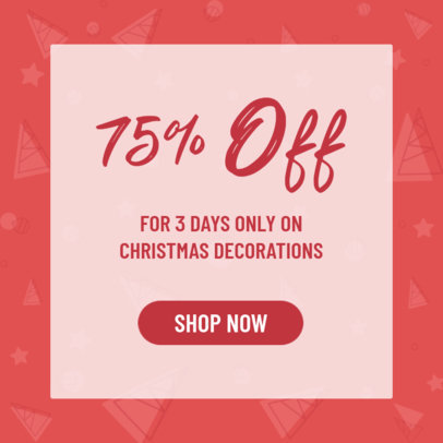Ad Banner Design Template for Christmas Sales 3088