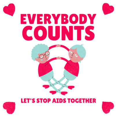 World AIDS Day Instagram Post Template Featuring Two Men Holding Hands 3098b