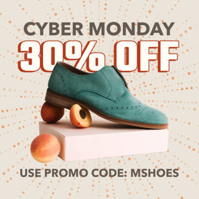 Instagram Post Generator for a Cyber Monday Shoes Sale 3100b