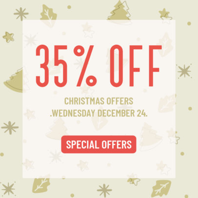 Ad Banner Template to Announce Christmas Offers 3088d