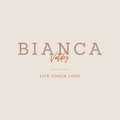 Simple Typography Logo Template for a Life Coach 3790c