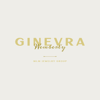Typography Logo Creator for an MLM Jewelry Group 3790e