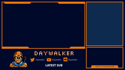 Twitch Overlay Generator with Exchangeable Frames Featuring a Ninja Icon 3103c