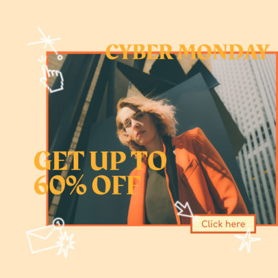 Cyber Monday Ad Banner Maker Featuring Cool Graphics 3101c