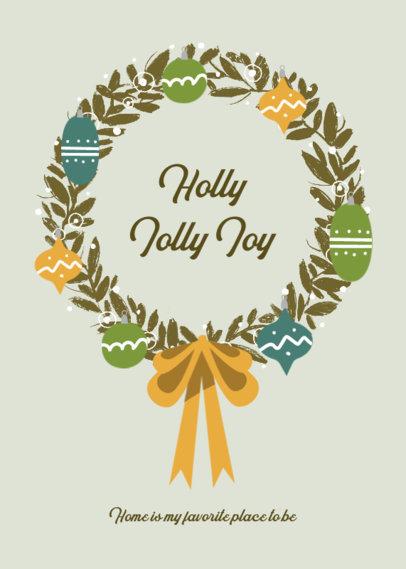Joyful Greeting Card Design Generator to Celebrate Christmas 3134d