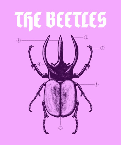 Insect-Themed T-Shirt Design Generator with a Silly Pun 3122d