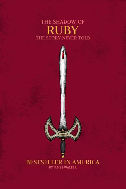 Book Cover Design Creator for a Renaissance Novel with a Sword Clipart 3133c