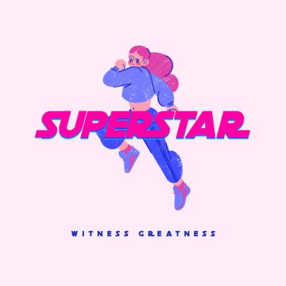 Sportswear Logo Maker Featuring an Illustration of a Woman Running 3810c