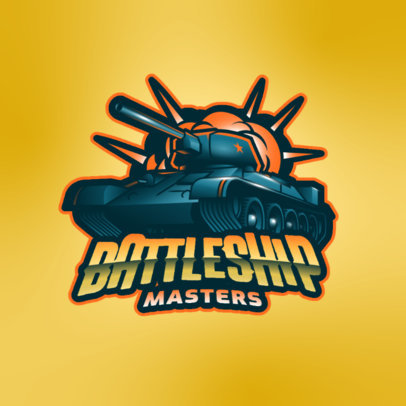 Logo Maker for a Gaming Squad Featuring a Graphic of a War Tank 3819f