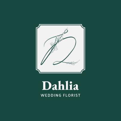 Wedding Florist Logo Generator Featuring a Floral Font 3148b-el1