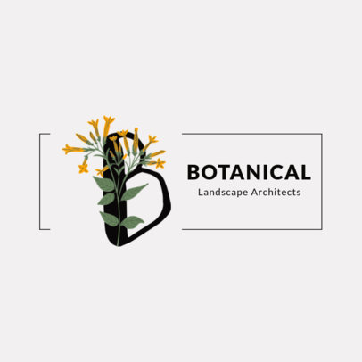 Logo Template for Landscaping Companies with Floral Letterings 3144-el1