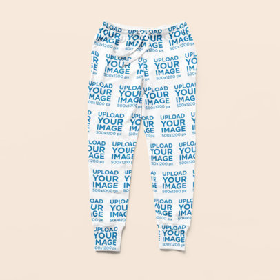 Flat-Lay Mockup of a Pair of Sublimated Sweatpants 15492a