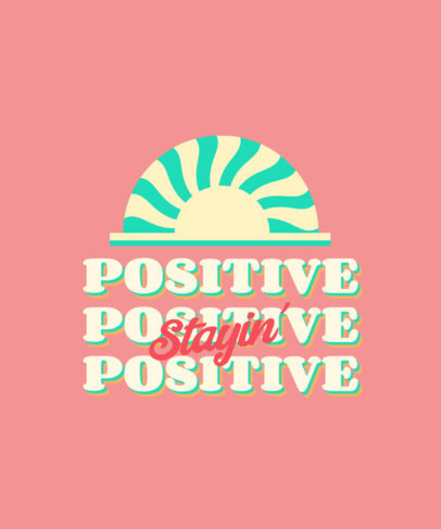 60's-Style T-Shirt Design Generator with a Positive Quote 3150b