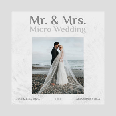 Instagram Post Creator for a Micro Wedding Virtual Invitation 3156b