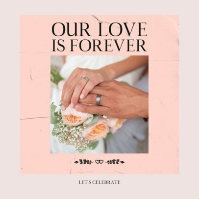Wedding-Themed Instagram Post Generator Featuring a Picture of Engagement Rings 3156e