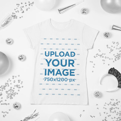 New Year's-Themed Mockup of a Women's T-Shirt m280