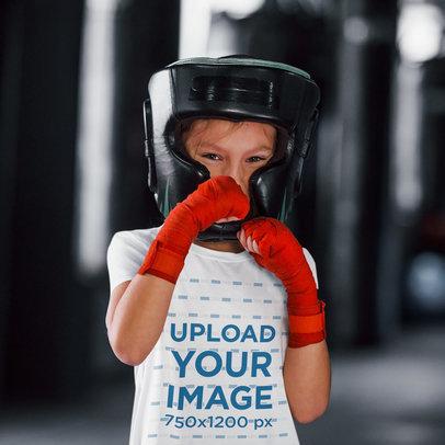 T-Shirt Mockup of a Girl Practicing Box 44752-r-el2