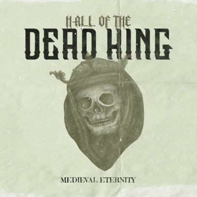 Heavy Metal Album Cover Generator Featuring a Horror Skull Character 3145c