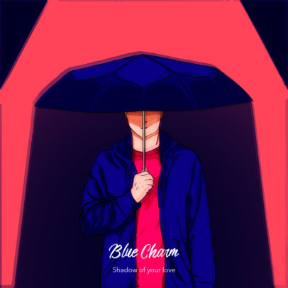 Mixtape Cover Maker for Lo-Fi Music Artist Featuring Anime Characters 3139h