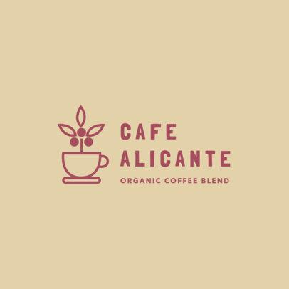 Online Logo Maker for an Organic Coffee Blend 3851a
