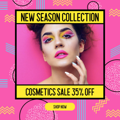 Colorful Ad Banner Maker for a Cosmetic Store 3173b