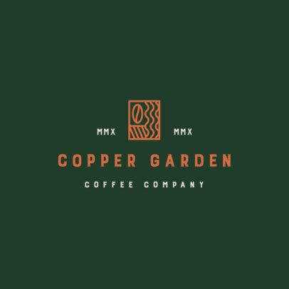 Minimal Logo Template for a Coffee Company Featuring an Elegant Style 3852d
