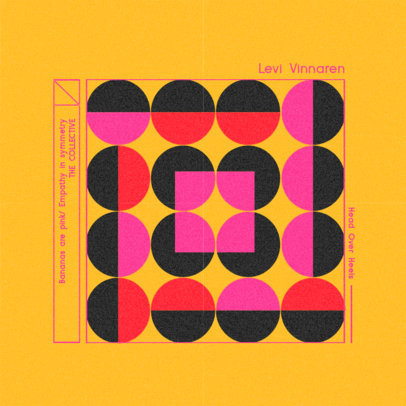 Vintage Album Cover Maker for an 80's Music Compilation with a Geometric Pattern 3160d