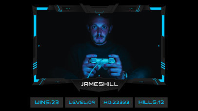 OBS Stream Overlay Maker for Gamers Featuring Neon Details and a Scoreboard 3224d-el1