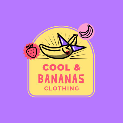Junior Clothing Brand Logo Maker Featuring a Banana Illustration 3849G