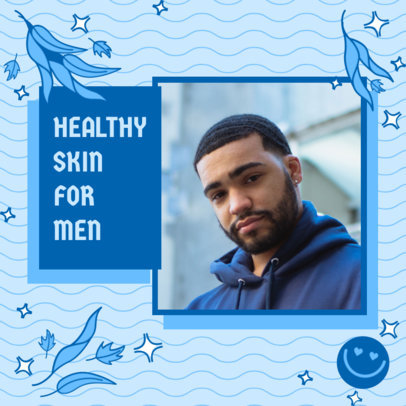 Instagram Post Template Featuring Healthy Skincare Routine for Men 3171e