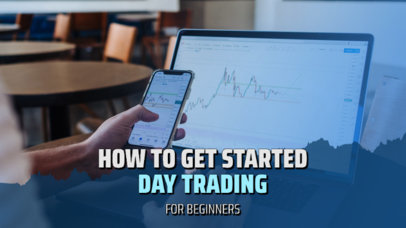 YouTube Thumbnail Template for a Day Trading Channel 3167a