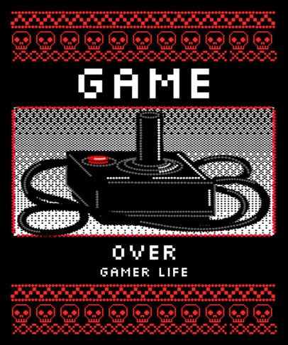 T-Shirt Design Maker in the Style of Ugly Sweater for Gamers 3212