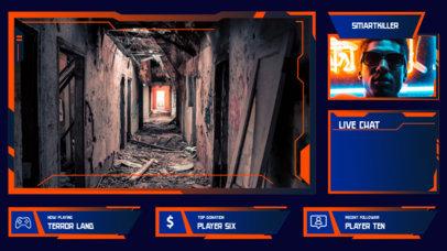 Vibrant Twitch Overlay Maker with Webcam Frame for a Horror Gamer 3208b-el1