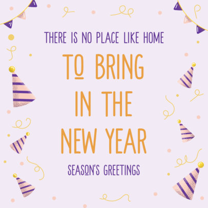 Beautiful Instagram Post Maker to Celebrate New Year's Eve at Home 3199a
