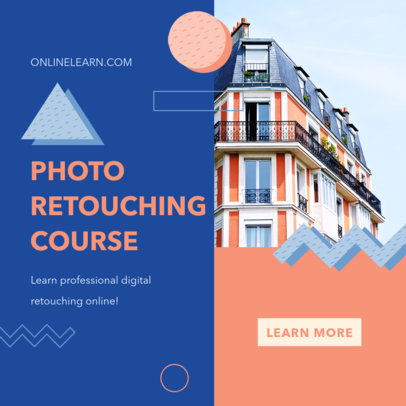 Instagram Post Design Maker to Announce an Online Course 3252-el1