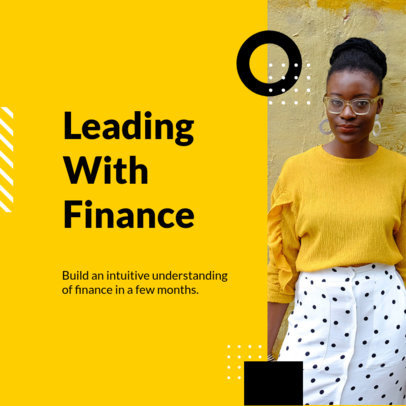 Instagram Post Maker for a Finance Fundamentals Webinar 3254c-el1
