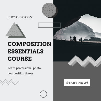 Instagram Post Template for a Photography Online Course 3252d-el1
