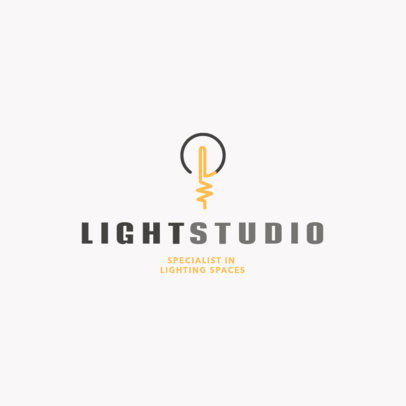 Online Logo Creator for a Lighting Studio Specialist 3869a