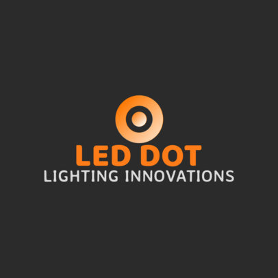Dropshipping Business Logo Generator for LED Lighting Companies 3868f