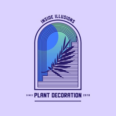 Elegant Logo Maker for a Plant Decorations Company 3874j