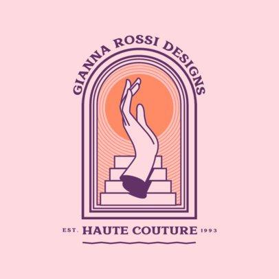 Fancy Logo Template for an Elegant Fashion Designer 3874k