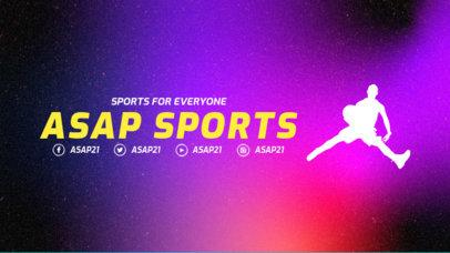 Basketball Twitch Offline Banner Template with a Modern Design 3192e