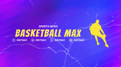Twitch Offline Banner Generator for Basketball Streaming Channels 3192i