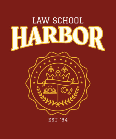 Law School T-Shirt Design Template 3208f