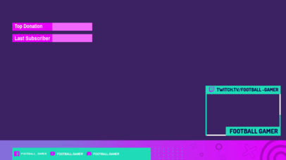 Twitch Overlay Design Template for a Sports-Themed Channel 3193a