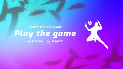 Twitch Offline Banner Template for Soccer Enthusiasts 3192d