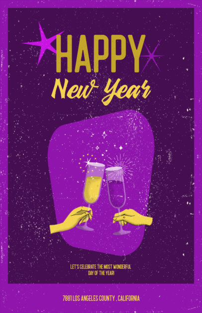 Retro Flyer Design Generator for a New Year's Eve Party 3201g
